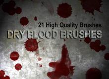 21种高清血迹、血液滴溅效果、流血图案PS笔刷素材