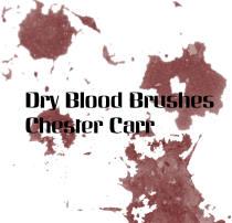 干掉的血迹、流血痕迹、血迹斑斑纹理PS笔刷