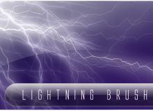 模拟闪电光束、雷电光线PS笔刷下载