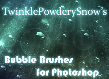 泡泡、气泡、半透明泡泡效果PS笔刷下载