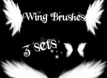 光影特效天使翅膀、纯洁的翅膀图像PS笔刷下载