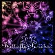 线条式蝴蝶花纹、艺术昆虫印花Photoshop笔刷素材