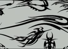 锋利的酷炫纹身、恶魔纹饰效果图案PS笔刷下载