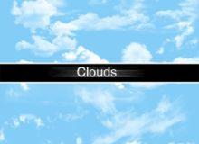 真实蓝天白云效果PS笔刷素材