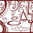 抽象式漩涡涂鸦花纹PS笔刷素材