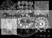 星座占卜术、十二星座魔法阵PS笔刷素材