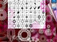 抽象式分形印花图案PS装饰图案笔刷