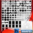 photoshop几何图像花纹图案自定义形状素材 .csh 下载