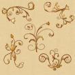 欧式植物印花图案photoshop自定义形状素材 .csh 下载