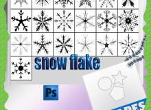 漂亮的手绘冰晶、雪花花纹photoshop自定义形状素材 .csh 下载