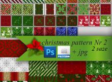 圣诞节风格背景Photoshop图案底纹素材.pat