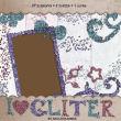 七彩亮片蝴蝶结、五角星、边框、爱心、花朵、字母符号等图像PS美图素材(PNG透明图片格式)
