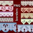 中东风格的植物花边图案PS笔刷素材(PNG图片格式)