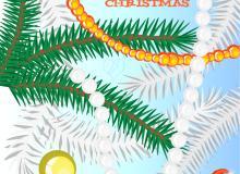 圣诞树人工智能画笔 Illustrator线条笔刷、Ai画笔