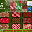 圣诞节传统喜庆背景填充纹理图案Photoshop填充图案文件底纹素材 .pat 下载