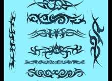 酷炫魔鬼纹饰、刺青、纹身图案Photoshop不良纹身笔刷