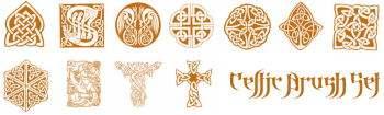 中东伊斯兰教风格的纹饰、图腾、印花Photoshop古典花纹装饰笔刷