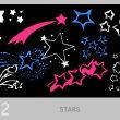 手绘涂鸦五角星、星星符号、流星图案Photoshop笔刷素材
