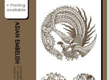 中华传统凤凰、富贵花纹等图案PS装饰笔刷