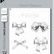 素描式风格的蝴蝶结图案PS笔刷素材(PNG图片格式)