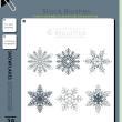 精美的雪花、花纹图案Photoshop笔刷素材