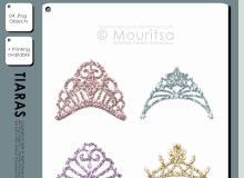 钻石头冠、女性头饰PS笔刷美图素材下载(PNG透明格式素材)