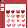 22种不同类型的爱心图案、心形Photoshop笔刷恋爱(AI文件素材)