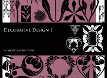 复古式艺术花纹装饰性图案Photoshop笔刷素材