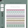 蕾丝刺绣式纹理分割线PS花纹风格边界笔刷(PNG透明图片格式)