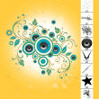 非主流时尚元素音乐图案PS笔刷下载