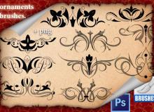 精美优雅的欧式贵族植物印花图案Photoshop印花笔刷