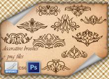 经典贵族印花图案PS优美的花纹笔刷