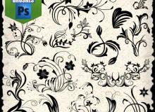 精美植物印花、鲜花花纹图案Photoshop墙壁印花笔刷