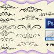 漂亮的印花装饰花纹图案PS笔刷素材