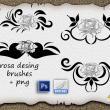 吸血鬼式花纹图案、玫瑰花印花PS笔刷下载