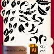手绘树叶、印花草叶图案PS花纹笔刷(Ai矢量文件格式素材)