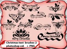 圣诞节文字花纹装扮PS祝福装饰笔刷
