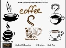咖啡杯、一杯咖啡剪贴画图像PS笔刷下载