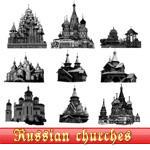 欧式城堡建筑图像PS笔刷下载