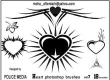 非主流爱心图案装饰Photoshop情人节心形笔刷