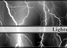 恐怖雷电、雷鸣纹理效果PS笔刷下载