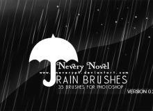 淅淅沥沥的下雨背景纹理效果PS笔刷下载