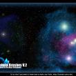 银河系、星云、星系团、深空背景PS宇宙太空笔刷