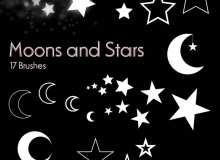 星星、月亮图案ps梦幻装饰图案美图笔刷