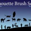 动物、宠物、骆驼、猫米、猴子等、孩子、家庭剪影图形PS笔刷下载