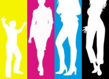 18种时尚年轻女性、男性夜店王者PS剪影笔刷