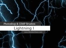 恐怖雷电、闪电背景纹理效果Photoshop闪电笔刷