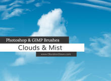 蔚来的天空白云效果、真实云层纹理PS笔刷下载