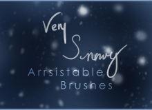 下雪、暴风雪、雪景、雪天气背景纹理PS笔刷下载