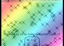 闪烁点、光芒纹理PS星星背景笔刷